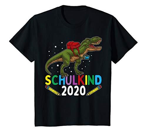 Kinder Einschulung Junge Dinosaurier SCHULKIND 2020 T-Shirt