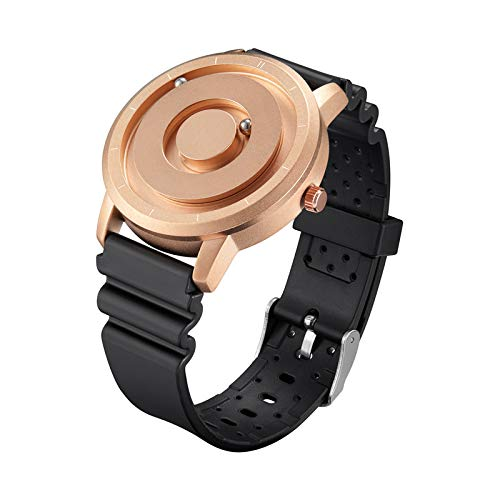 EUTOUR Reloj magnético, Nuevo Puntero magnético Original, Concepto Gratuito, Reloj de Cuarzo,Reloj Braille, Reloj de Pulsera con Bola magnética para Hombre, Reloj de Pulsera de Moda (B02)