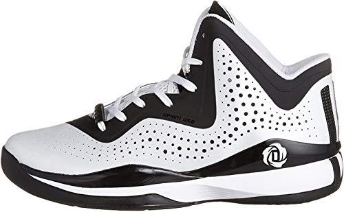 adidas D Rose 773 III Men's Basketball Shoes Size US 11.5, Regular Width, Color White/Black