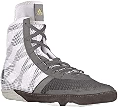 adidas Pretereo III Men's Wrestling Shoes, Grey/Gold/White, Size 7.5