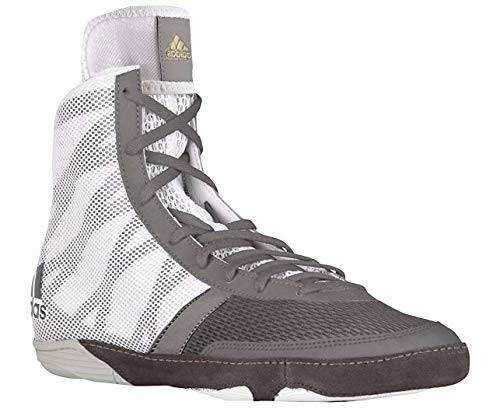 adidas Pretereo III Men's Wrestling Shoes, Grey/Gold/White, Size 11.5