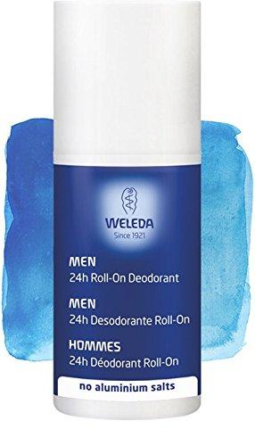 Desodorante Roll-On Men, NUEVO: 24 horas de eficacia, 100% natural y sin sales de aluminio - Weleda (50 ml) - Se envía con: muestra gratis y una tarjeta superbonita que puedes usar como marca-páginas!