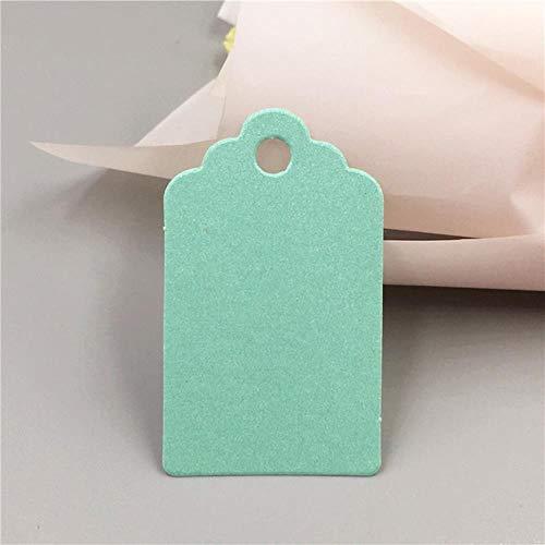 50 Stks/pak 5x3cm Kleurrijke Kraft Papier T Vorm Label voor Sieraden/Oorbel/Geschenk/Voedsel/Chocolade Hang Tag DIY Bericht Card Blauw