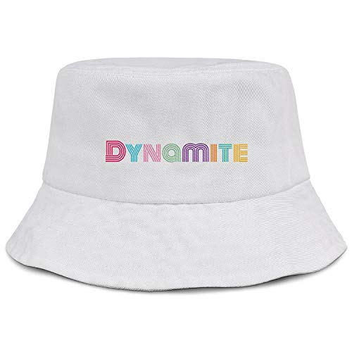 BTS-Dynamite - Gorro unisex de algodón, plegable, para viajes, playa, sombrero, para...