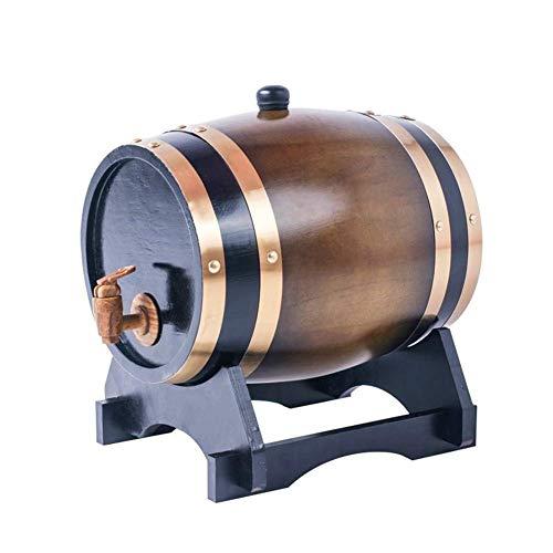 YLKCU Barril Vino Madera Barril de Vino de Madera de Roble de Madera Vintage de Barril de 1,5-10L para Cerveza Whisky Ron Port Homebrew Hotel Restaurante Exhibición de exhibición Barril de Cerveza
