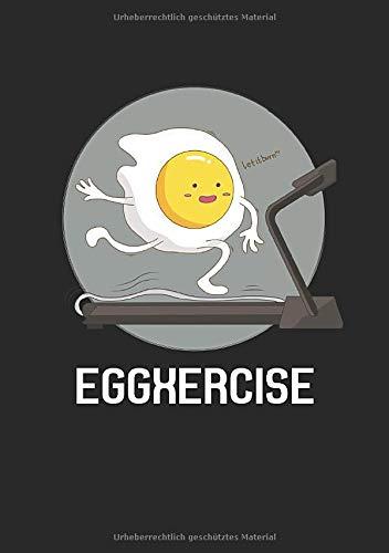 Notizbuch A5 dotted, gepunktet, punktiert mit Softcover Design: Witziges Laufen Joggen Ei auf Laufband Marathon Geschenk: 120 dotted (Punktgitter) DIN A5 Seiten