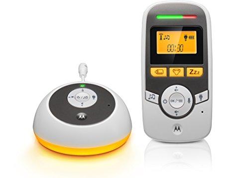 Motorola Baby MBP161TIMER - Vigilabebés digital con pantalla y temporizador para el cuidado del bebé - Blanco