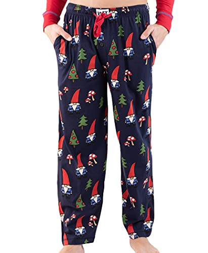 Lazy One Pajama Pants for Men, Men's Separate Bottoms, Lounge Pants, Funny, Humorous, Home, Garden (No Place Like Gnome, Large)