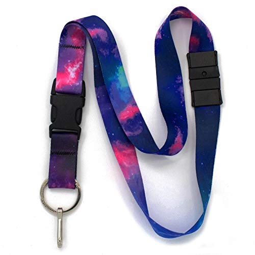 Buttonsmith Nebula Breakaway Lanyard - with Buckle and Flat Ring - Made in The USA