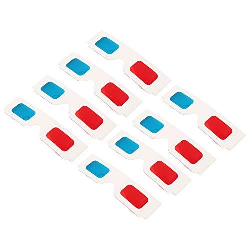SOLUSTRE 100 gafas de cartón 3D desechables universales Anaglifato 3D rojo azul cian gafas de cartón Anaglífica