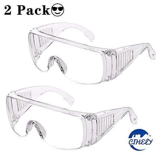 ANLEM Schutzbrille, 2 Pack Medical Protective Science Brille klar Speichel verhindern Staubschutz-Schutzbrille Anti-Dampf-Schutzbrille für den Alltag, Heimwerkerarbeit, Chemielabor