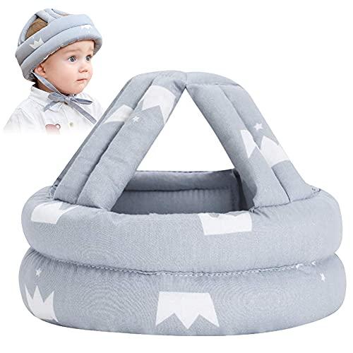 FANDE Baby Schutzhelm Atmungsaktiv Sicherheit Kopfschutz Mütze Kinder Helme Säuglingskleinkind Verstellbarer Helm für Kleinkinder Lerne Laufen, 6 bis 15 Monate Baby