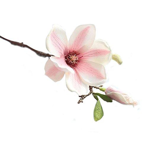 Wohnaccessoires & Deko Kunstblumen Künstliche Simulation Magnolien Blume einzelne gefälschte Blume Wohnzimmer Schlafzimmer boden-decke Stück Magnolien Blume Großen Strauß Magnolie Orchidee Blume