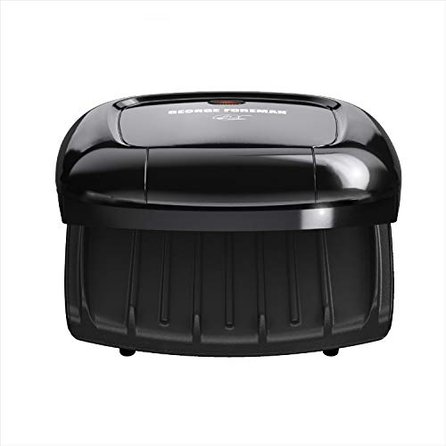 George Foreman GR0040B 2-Serving Classic Plate Grill, Black