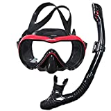 ACRIAL Snorkel Set Anti-Fog Snorkeling Diving Mask, Panoramic Wide View Diving Goggle, with Upgraded Free...