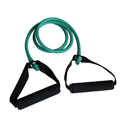 Toweter Pilates Fitness-Tube Elastica di Resistenza per Fitness con Maniglie (Verde)