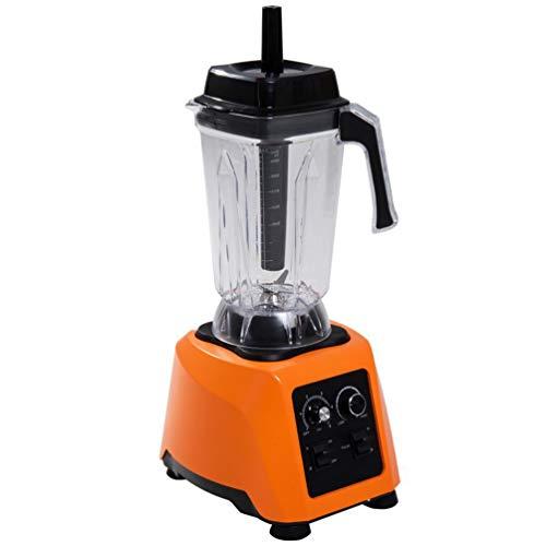 QREZ Blender Smoothie Maker, Jug Blender Smart Blender Juicer Professional Commercial for Vegetables And Fruit Smoothie Maker Blender Food Processor 45000RPM 2200W,Orange