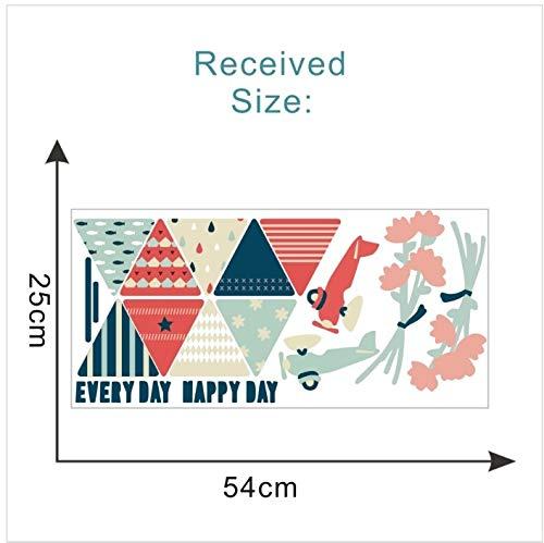 WTTTL Sticker Mural Sticker Mural Autocollant animalierColoré Beau Drapeau Guirlande Mur Point Art Décor Autocollant pour La Chambre des Enfants Décoration Couleur Flgs Avions Fleurs