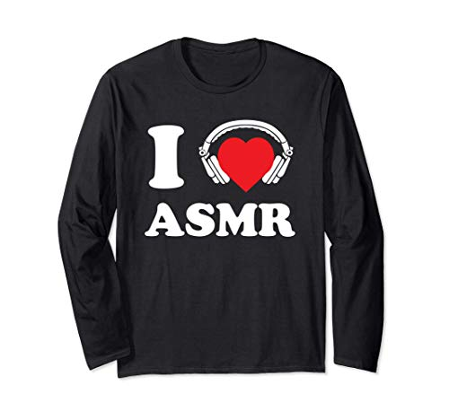 I Love ASMR Heart Headphones Funny Tingles Gift Long Sleeve T-Shirt