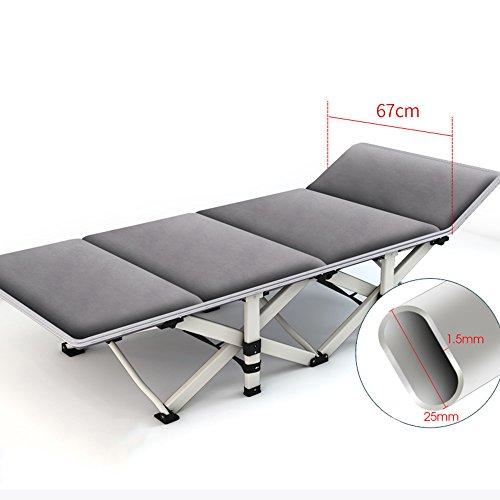ZYX Chaises KFXL yizi Lit Se Pliant Individuel de Siesta de Bureau/hôpital Pratique Multifonctionnel Simple de lit d'accompagnement/inclinables Simples Adultes de Renfort (Couleur : A)
