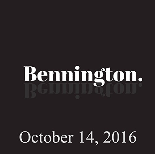 Bennington, October 14, 2016 audiobook cover art