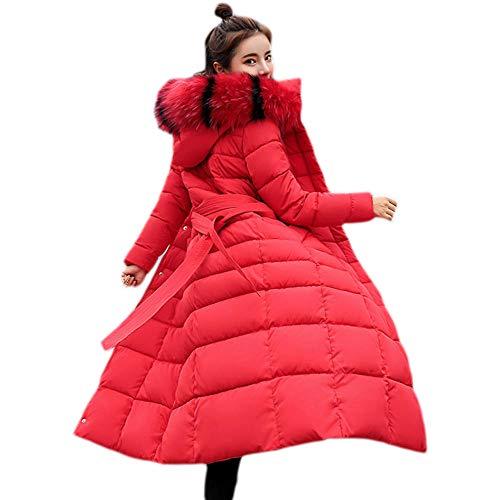RYDRQF - Abrigo de Invierno para Mujer, Mujer, Rojo, Medium