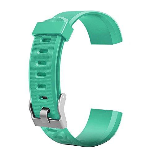 VDYXEW Farbiges Armband, Ersatz-Zubehör für ID115Plus HR-Smart-Watch, grün, 180.00*100.00*20.00 (grün)