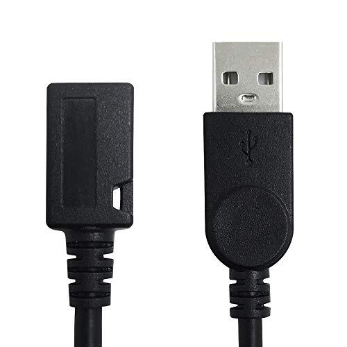 AFUNTA USB 2.0 Micro 5-polige Buchse auf Standard-USB-Stecker, Verlängerungskabel für Datenübertragung, 12,7 cm