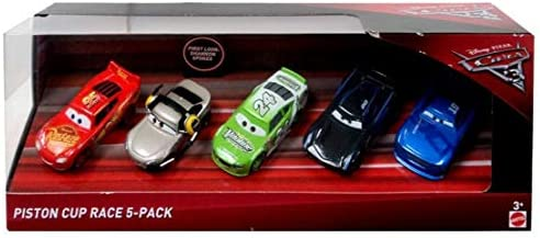 ACTION 1 55 Scale Piston Cup 5 Pack Cars Lightning McQueen Shannon Spokes Brick Yardley Jackson product image