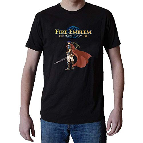 Ksiwre Homme Short Sleeve Cotton Manches Courtes/T Shirt Fire Emblem Radiant Dawn Logo Medium