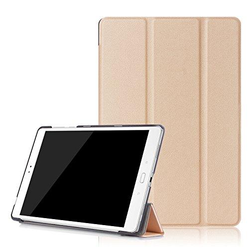 LOOCOO Housse ASUS Zenpad 3S 10 Z500M, Ultra Slim étui Housse en Cuir Coque Smart Cover Case pour ASUS Zenpad 3S 10 Z500M, Or