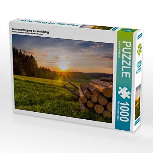 CALVENDO Puzzle Sonnenuntergang bei Annaberg 1000 Teile Lege-Größe 64 x 48 cm Foto-Puzzle Bild von Matthias Bellmann