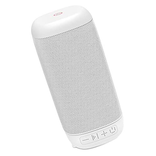 Hama Bluetooth Lautsprecher Tube 2.0 tragbar (Kompakte, kleine Mono Bluetooth Box, Musikbox mit strapazierfähigem Bezug, 8 h Spielzeit, AUX, Freisprecheinrichtung, 3 W, leichtes Design) weiß
