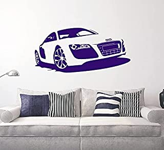 Mode super sport bil racing entusiaster bilhandlare biluthyrningsföretag garage vinyl väggklistermärke dekal vardagsrum ra...
