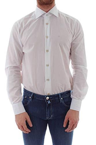 Kiton Luxury Fashion Herren 68271 Weiss Baumwolle Hemd | Jahreszeit Outlet