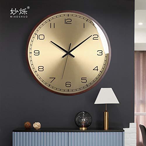 XMBT Relojes de cabecera sin tictac,Reloj de Pared de Cocina de Gran tamaño Reloj de Pared Vintage Retro Reloj del Dormitorio Relojes de Cuarzo,Size:10inch