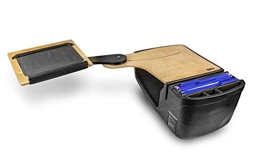 AutoExec AUE10008 Reach Desk Elite-01 BS Vehicle Desks Black/Grey/Birch Reach Desk Elite with Extended Arm (Backseat)
