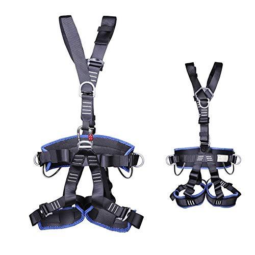 ZWWZ Klettergurt, BAU Harness Roofing Harness, Auffanggurt, Fallschutz, for Bergsteigen Felsen Abseilen Klettern, mit Schulter und Bein, Hand-Werkzeug-Sets HAIKE