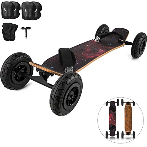 VEVOR Mountainboard Sternenhimmel Skateboard 94x24 cm, Longboard 7,8 Zoll keinen Akku mit tollen Features mit Zubehör Geschenk