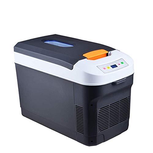 Mini refrigerador, refrigerador para automóvil de 22 l, refrigerador portátil pequeño, congelador compacto, AC / DC, panel LCD, silencio, refrigerador para viaje al aire libre, apto para automóvil, e