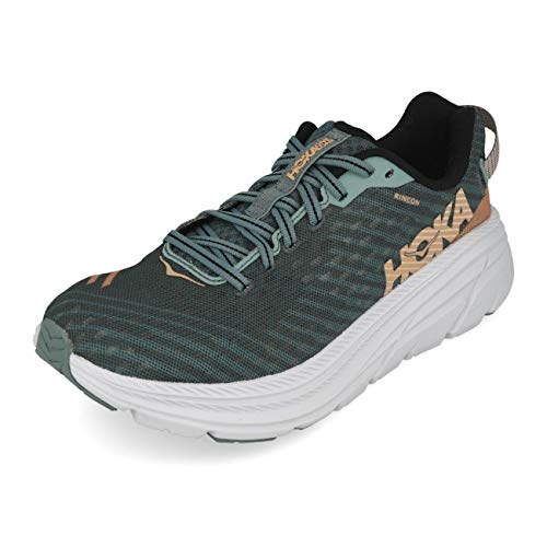 HOKA ONE ONE Rincon Women's 6 Running Shoes, Lead/Pink Sand, 8 US