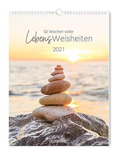 """Wochenkalender 2021 """"LebensWeisheiten"""": Wochenkalender groß"""
