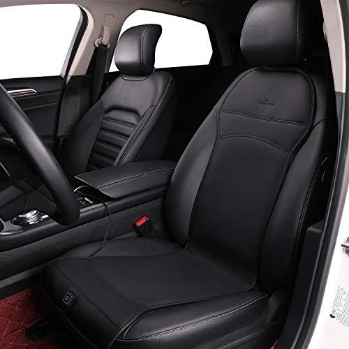 KINGLETING Beheizte Sitzkissen mit Druckempfindlichem Schalter, für Meist Auto(12Volt, Schwarz)