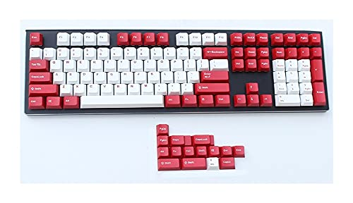 FATEGGS Conjunto de Llaves Shot OEM PERFIO Clave PTBT Grueso para Los Interruptores MX 61 63 64 84 87 96 108 K60 XD60 GK64 FC980M Teclado Mecánico KeyCaps Lindos (Color : Red)