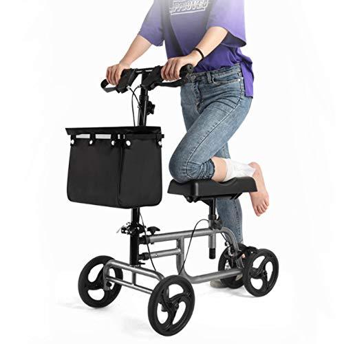 Tellgoy Andador De Patinete De Rodilla Orientable Plegable con Freno Alternativo A La Cesta De Muleta Carrito De Conducción Soporte Médico para Piernas