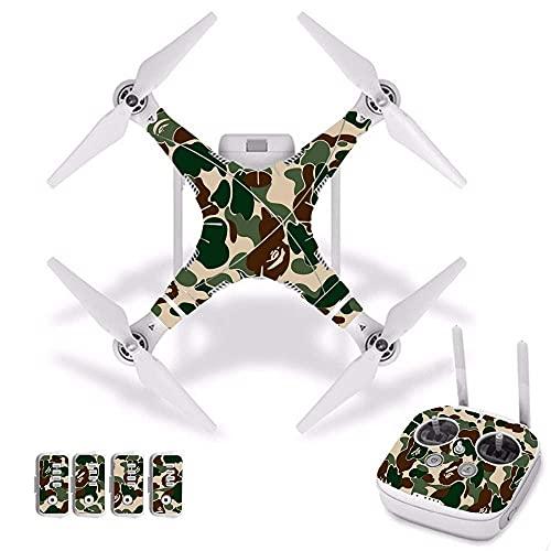 Fingerorthese.LQ New Camouflage Waterproof PVC Decal Skin Sticker per DJI per Phantom 3 Drone Pellicola di Protezione del Corpo + Coperchio del Telecomando [J30037] Accessori per quadricotteri