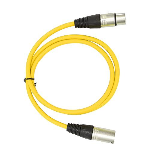 Eulbevoli Cable de micrófono, Accesorios de micrófono Capacidad antiinterferente para micrófono para conciertos Stagelive, Aplicaciones de grabación(Amarillo)