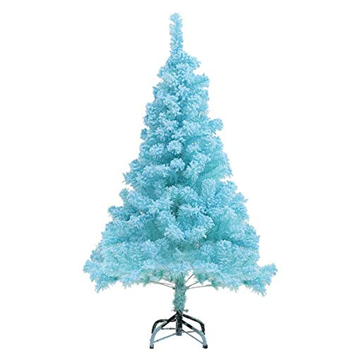 LXING Christmas Tree Stand Artificial Christmas Tree,Plastic Stand Unlit Snow Xmas Tree Holiday Decoration Party Dorm-Blue 60cm(24inch) (Color : Blue, Size : 5.9ft)