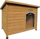 Pets Imperial® Norfolk Chenil Isolé En Bois très grande taille chien Avec Plancher Amovible Pour Un Nettoyage Facile c
