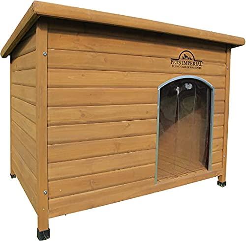 Pets Imperial® Cuccia Per Cani Canile Norfolk Extra Large in Legno con Binari Guida e Pavimento Estraibile per il Mantenimiento Facile